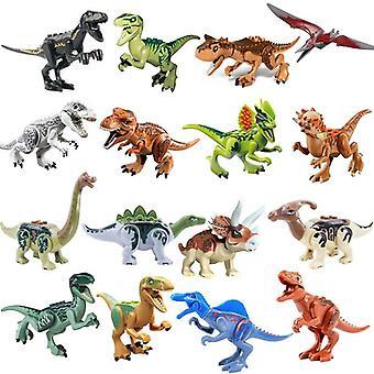 Jurassic Dinosaurs World Park Raptor Protection Zone Building Blocks Set