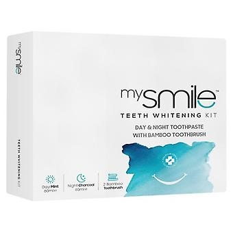 mysmile Day and Night Toothpaste with Brush - Teeth Whitening Kit