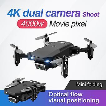 Uusi drone 4k kaksinkertainen kamera hd wifi drone neliakselinen lentokone rc helikopteri kameralla