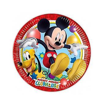 8 Assiettes en carton Mickey Mouse 23 cm