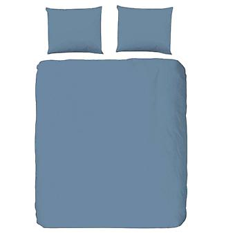 duvet cover Uni 220 x 200 cm cotton/satin blue