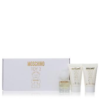 Moschino Toy 2 par Moschino Gift Set -- .17 oz Mini EDP Spray + .8 oz Body Lotion + .8 oz Gel douche
