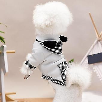 Pet clothes autumn and winter puppy clothes hooded sweater