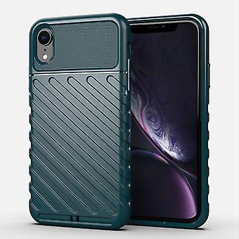 TPU ألياف الكربون حالة لiphone xs ماكس الأخضر الداكن mfkj-2047