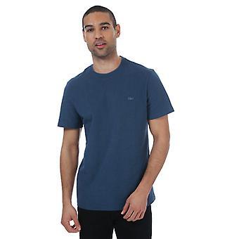 Menns Lacoste Birdseye Pique T-skjorte i blått