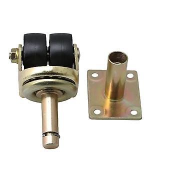 Para o instrumento de roda rodízio de nylon de preto e dourado preto e dourado WS5593