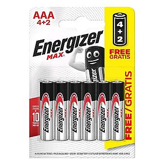 Batteries Max Power Energizer LR03 AAA (6 uds)