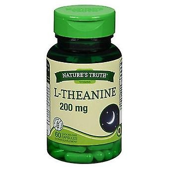 Nature's Truth Nature'S Truth L-Theanine Dietary Supplement Capsules, 200 mg, 60 Caps