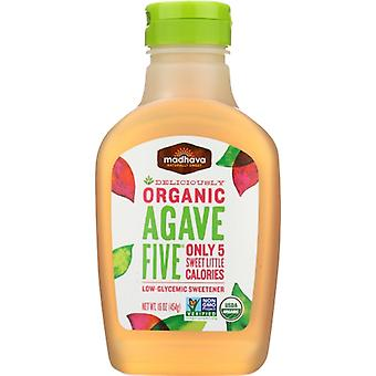 Madhava Honey Agave Five Org, Case of 6 X 16 Oz