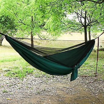 Camping Hammock Mosquito Net and Hammock Canopy Portable Nylon Hammock Rain Fly Tree Straps for Hiking Camping Survival Travel