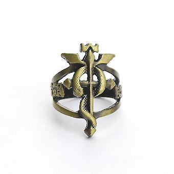 Fullmetal Alchemist Anime Ring Retro Legierung Finger ring für Sammlung Golden