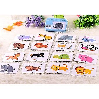 Graph Match Game Kid's Early Educational Montessori Toys Puzzle Card Cartoon Vehicle |Math Toys