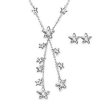 Swarovski jewels necklace & earrings set stars 5030390