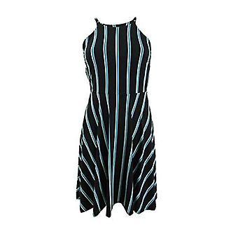 Bar III Womens Halter Striped Casual Dress