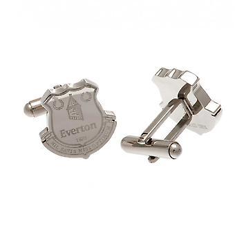 Everton FC rostfritt stål bildade manschettknappar officiell licensierad produkt