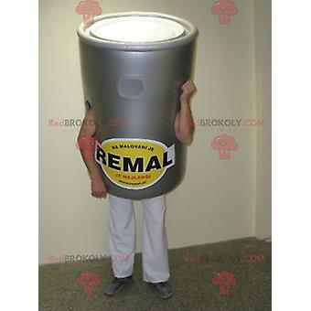 Mascote REDBROKOLY.COM balde de tinta cinza gigante