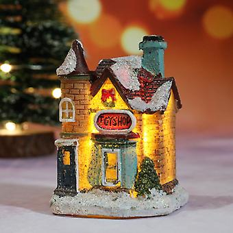 Christmas Light House Merry Christmas Decorations For Home Xmas Gifts Cristmas Ornaments New Year Decor