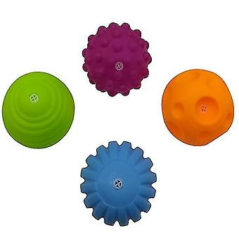 ملعب كرات الطفل المطاط اليد محكم الكرة لمسة للمتعة الحسية نوع حمام tj019 sm153373