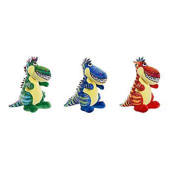 Jouet moelleux DKD Home Decor Polyester Dinosaur (3 pcs) (16 x 24 x 26 cm)