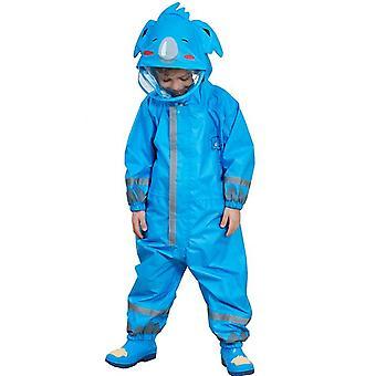3-10 שנים ילדים קריקטורה מעיל גשם חיצוני עמיד למים סרבל חתיכה אחת מעיל בגדי גשם צבעוניים ילדים צפרדע ג'ירפה מעיל