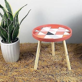 Tavolino da comodino creativo di forma nordica a forma rotonda