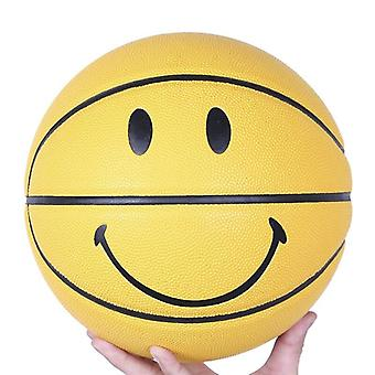 Smiley Basketball Ball Smiling Face Street Basket Ball Size Professional Match Training