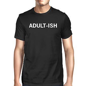 Adult-ish mænd sorte skjorter sjove grafik trykt kort ærme Tee