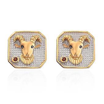 TJC Gránát Pasziánsz Stud fülbevaló Sterling ezüst születésnapi ajándék 0.06ct