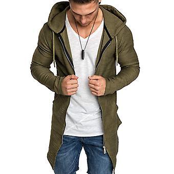 Pánske Mikina s kapucňou Zip Up Mikina Vrchné oblečenie Dlhá bunda Kardigan kabát
