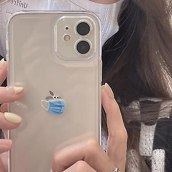 Venalisa Iphone12 (6.1) Étui pour téléphone portable Masque créatif Transparent Tout compris Peint Soft Cover