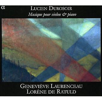 Durosoir - ルシアン Durosoir: 音楽を注ぐ Violon Et ピアノ [CD] USA 輸入