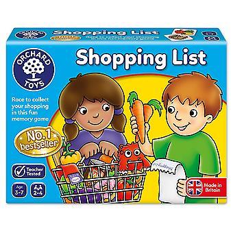 لعبة قائمة التسوق بستان