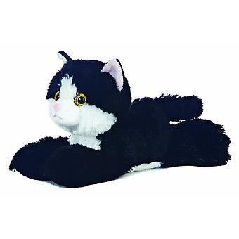 Aurora 8-inch Flopsie Cat (Black/White)