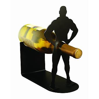 Wine bottle holder muscle man prank Vlad of the Impaler