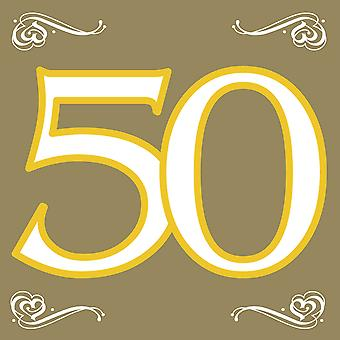 Napkins 50 gold wedding 20pcs guestbooks gold time