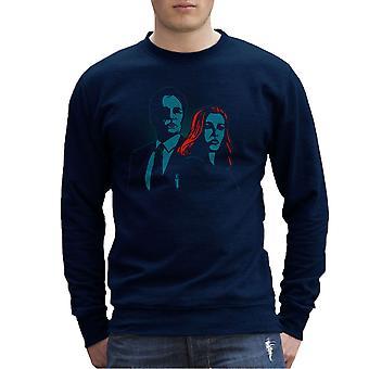 Truth Seekers Mulder and Skully X Files Men's Sweatshirt