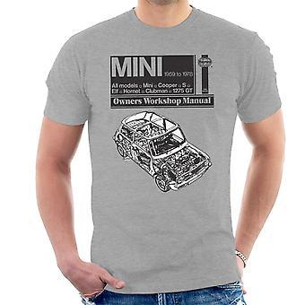 Haynes Workshop Manual Mini 1959 Black Men's T-Shirt