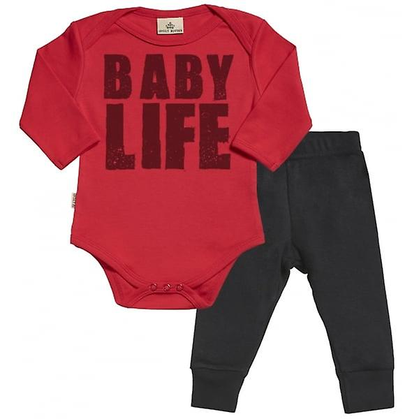 Spoilt Rotten Baby Life Babygrow & Jersey Trousers Outfit Set