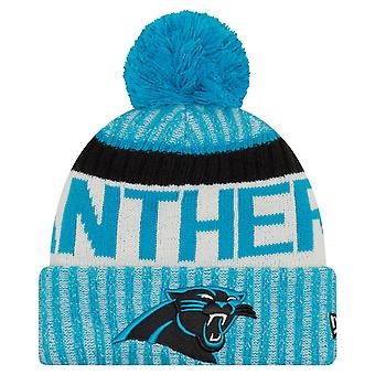 New Era NFL SIDELINE 2017 Bobble Mütze - Carolina Panthers