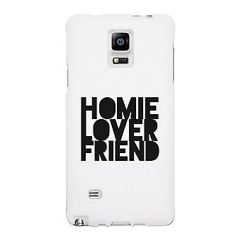 Caso de teléfono blanco Homie amante amigo