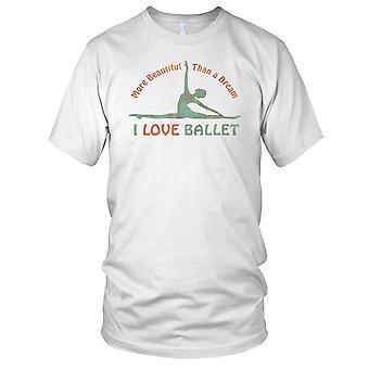 Hou van Ballet droom Mens T Shirt