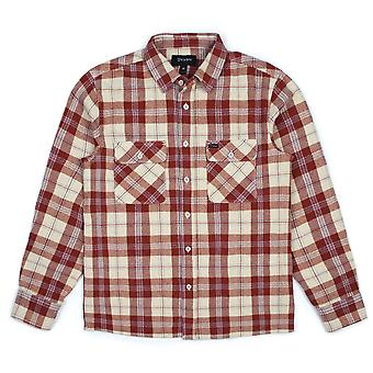 Brixton Archie Long Sleeve Flannel Shirt Brick