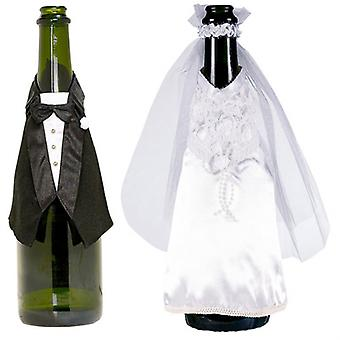 Flaschendeko sposi gag partito 3 pezzi per la decorazione di matrimoni per Champagne