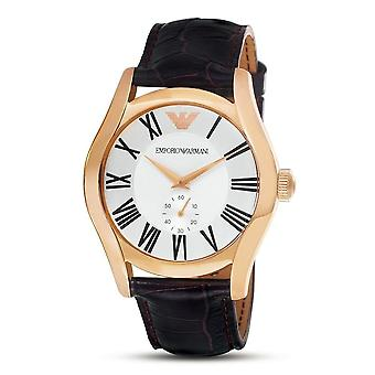 Emporio Armani Ladies Watch Rose Gold Silver Dial Brown Dial AR0678