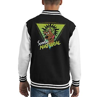 Scooby Natural 80s Scooby Doo Supernatural Kid's Varsity Jacket