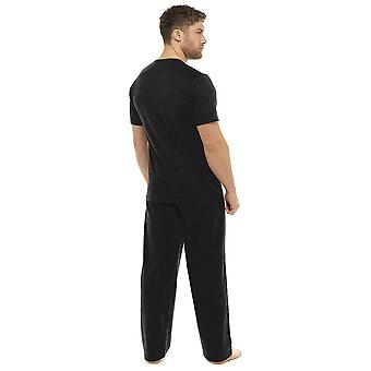 Tom Franks Mens Plain Bumbac cu mânecă scurtă Top Lounge Pijamale