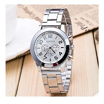 Luxury Silver Chrono Watch Numbers Time Elegant Love