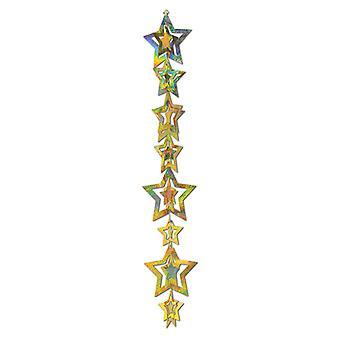 3-d Gleam étoile prismatique suspendus Garland