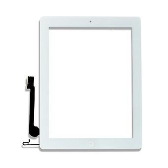 Berøringsskjerm Digiziser for Apple iPad 4 hjem-knappen pad hvit