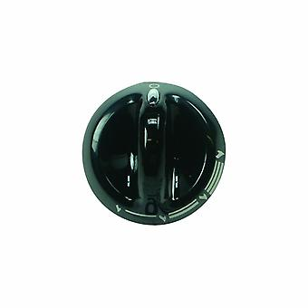 Indesit Black Cooker Control Knob